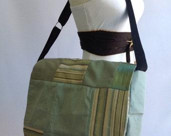 Messenger bag, blue patch work