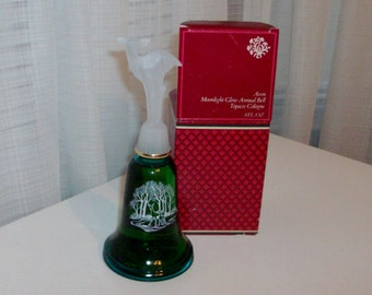 NEW 1981 Moonlight Glow Annual Bell Decanter With Topaze Cologne by Avon (code d)