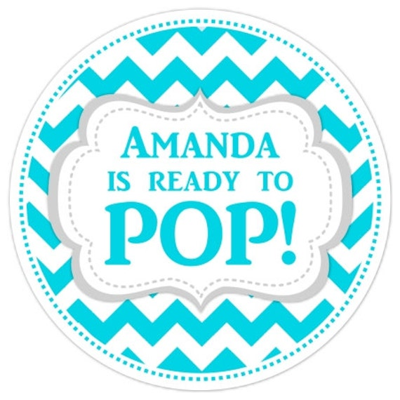 Baby shower ready to pop labels chevron baby shower for Ready to pop labels