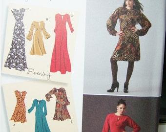 Simplicity 2801 Women's Pattern,Dress in 3 Lengths, Maxi Dress, Empire Waist, Bell Sleeves, Boho Gown, Plus Size 12 - 20 UNCUT Pattern