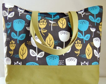Wildflower XL Extra Large Beach Bag / BIG Tote Bag - Ready to Ship