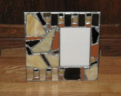 Mirrored Recycled Mosaic Picture Frame (holds a 5 x 7 photograph)