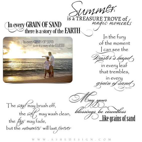 Beach Word Art Quotes Photo Overlays for Scrapbooking GRAINS  Beach Quotes And Sayings For Scrapbooking