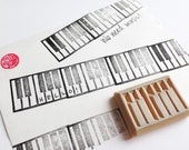 piano rubber stamp. keyboard hand carved stamp. music stamp. music teacher's stamp. birthday scrapbooking. holiday gift wrapping