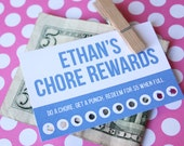 Personalized Chore Punch Cards