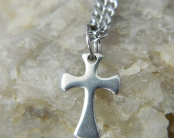 Small Stainless Steel Cross Necklace