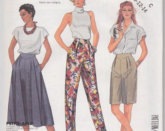 McCall's 2930 Misses' Skirt, Pants and Shorts Sizes 10, 12, 14 Vintage UNCUT Pattern