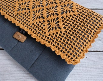 Laptop Sleeve Case Cover for Macbook 13 inch / linen/...