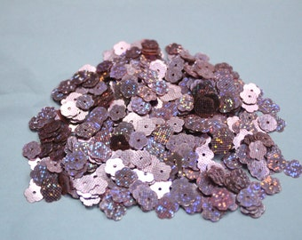 100 Metallic Purple Color Dotted Texture  Flower sequins/KBSF437