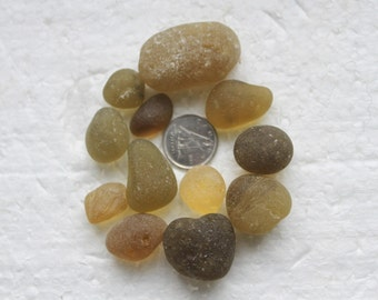 Awesome Beachglass stunning Gold Colored Nuggets Beautiful shapes sizes and Teriffic Quality zy670 PLUS FREE MARBLES