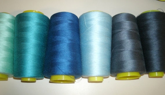 Sewing Serger spools Thread polyester many colors to choose from large cone