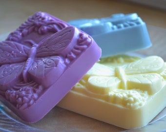 Spring Soap - Butterfly Beauty Soap Bars - Vegan Soap - Mothers Day - Gift for Mom - Grandma - Butterfly Soap - Butterflies - Vegan Soap