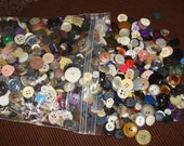 "Large Lot Buttons, Huge Lot Buttons, All Colors and Size Button from 1/4"" to 1 "" ~ Plastics, Celluloids ~ 2 lbs.//buttons for Crafts/Sewing"