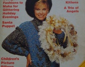 Quick & Easy Crochet Pattern Magazine/November/December 1987/Variety of 30 patterns/Vintage style/Crochet patterns/ Instructions/Christmas