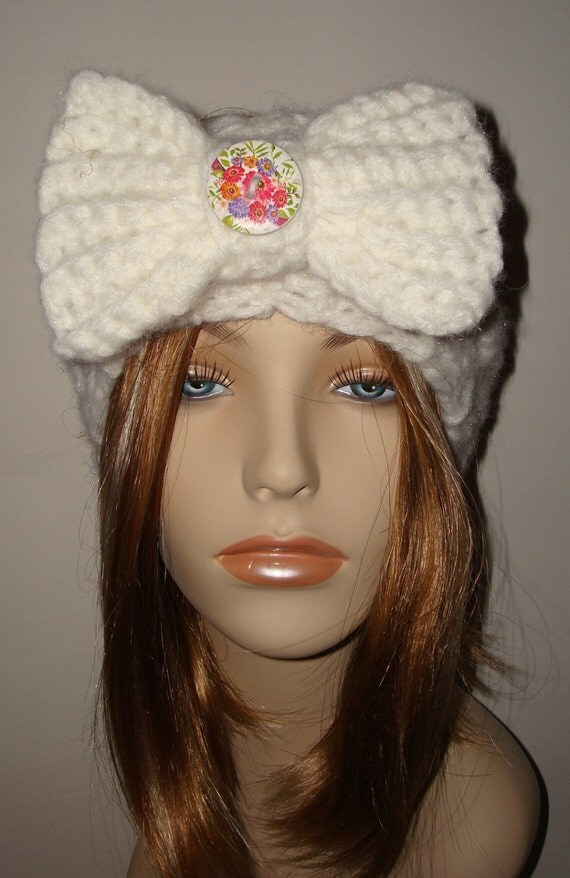 Women's Crochet Mountain Chunky Cabled Headband-Warm