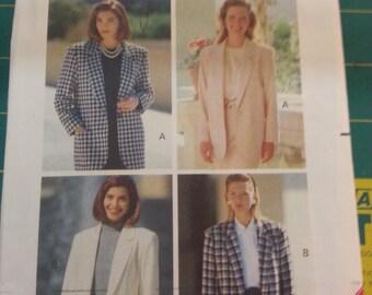 Easy Loose Fit Jacket Blazers 6 8 10 Butterick 5653
