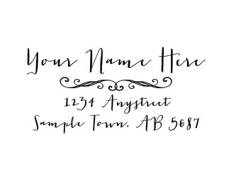Personalized Self Inking Address Stamp - Return address stamp R222