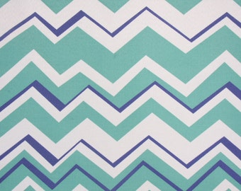 CLEARANCE - Richloom Tempest Aquamarine Chevron Outdoor Pillow Free Shipping