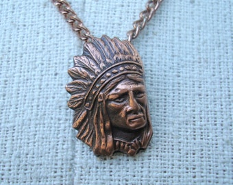 Copper Necklace Vintage 1980s Native American