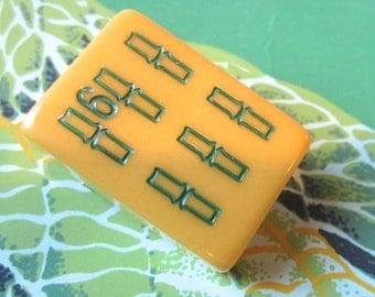 Bakelite Mah Jongg Tile Pin Number 6