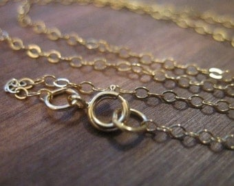 """1 pc, 14 to 36"""" inch, Gold Chain, FINISHED, Gold Fill Chain Necklace Wholesale, 1.4 mm Flat Cable, g1.30 g.16 g.24 g1.22 g1.34 g1.32 g1.36"""