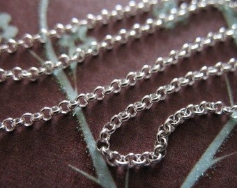 Shop Sale..Sterling Silver ROLO Chain, 15-40% less, 1.5 mm Necklace Chain, wholesale dainty jewelry chain .SS..S22 hp