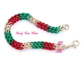 Candy Cane Chainmaille Bracelet
