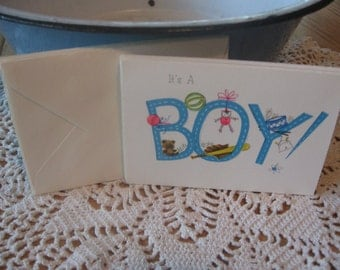 Lot of 5 Adorable Vintage Baby Boy Announcements from Ambassador