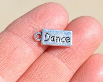 10  Silver DANCE Charms SC1192