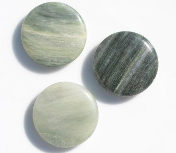 Green Line Jasper Coin Beads