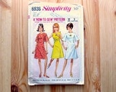 Vintage 1960s Simplicity Pattern - 6936 Teen size 10T dress - published 1966 - 1960s teen fashion
