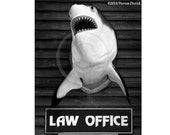 Lawyer Art, Law Office, Attorney at Law, Shark Humor