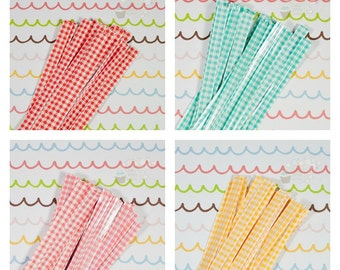 Gingham Twist Ties