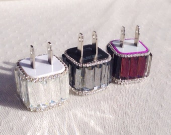 Crystallized iPhone and sumsang charger, choose one