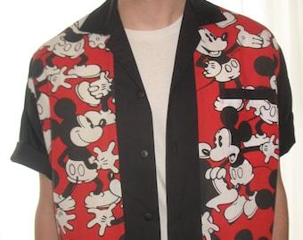 Men's Rockabilly Shirt Jac Mickey Mouse