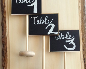 8 Mini Table Chalkboard Stands, Place Settings, Wedding Chalkboards, Buffet Labels, SEEN in BRIDES MAGAZINE