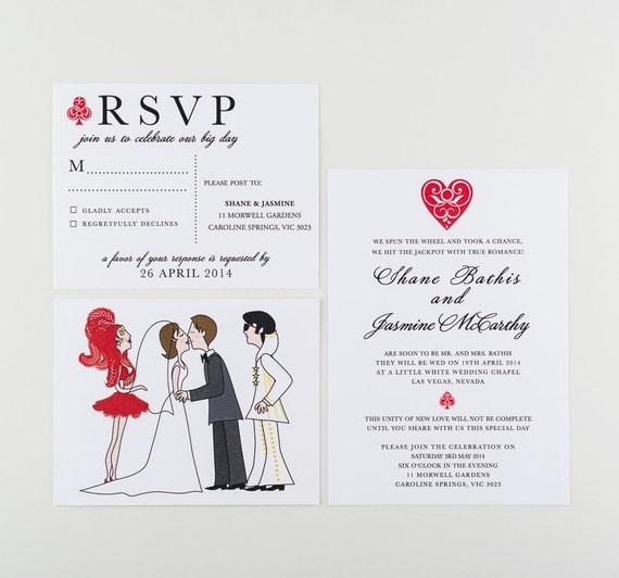 Wedding invitation las vegas and elvis style by for Las vegas elvis wedding invitations