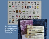Loop Style Small size-Knitting Labels, Crochet Labels, Weaving labels or  Quilting Labels with care Instructions