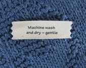 Knitting/Crochet Care Labels- Machine Wash and Dry Gentle
