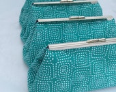 Bridesmaids Gift Clutch in Teal Handbag Bridesmaids Gift Clutch design your own in a variety of fabrics
