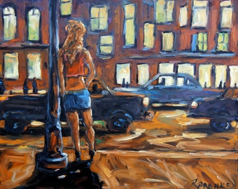 Payin the Rent Original Oil painting created by Prankearts
