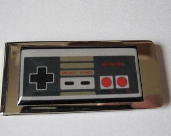 Vintage Nintendo Controller Inspired Money Clip
