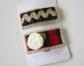 Jilly- Set of 2 Felt Snap Clips