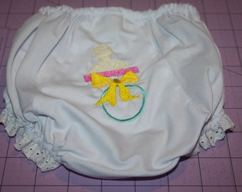 Pacifier Machine Embroidered Diaper Cover