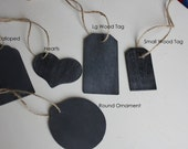 Chalkboard Tags with a Jute Hanger - Jar and Basket Labels