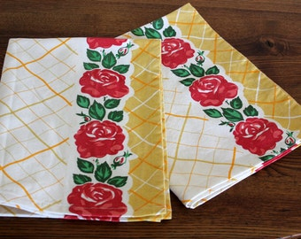 Kitchen Towel - Granny's Rose Print - Select Your Length