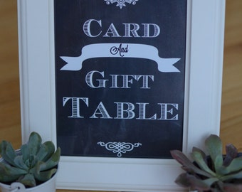 Card table chalkboard sign