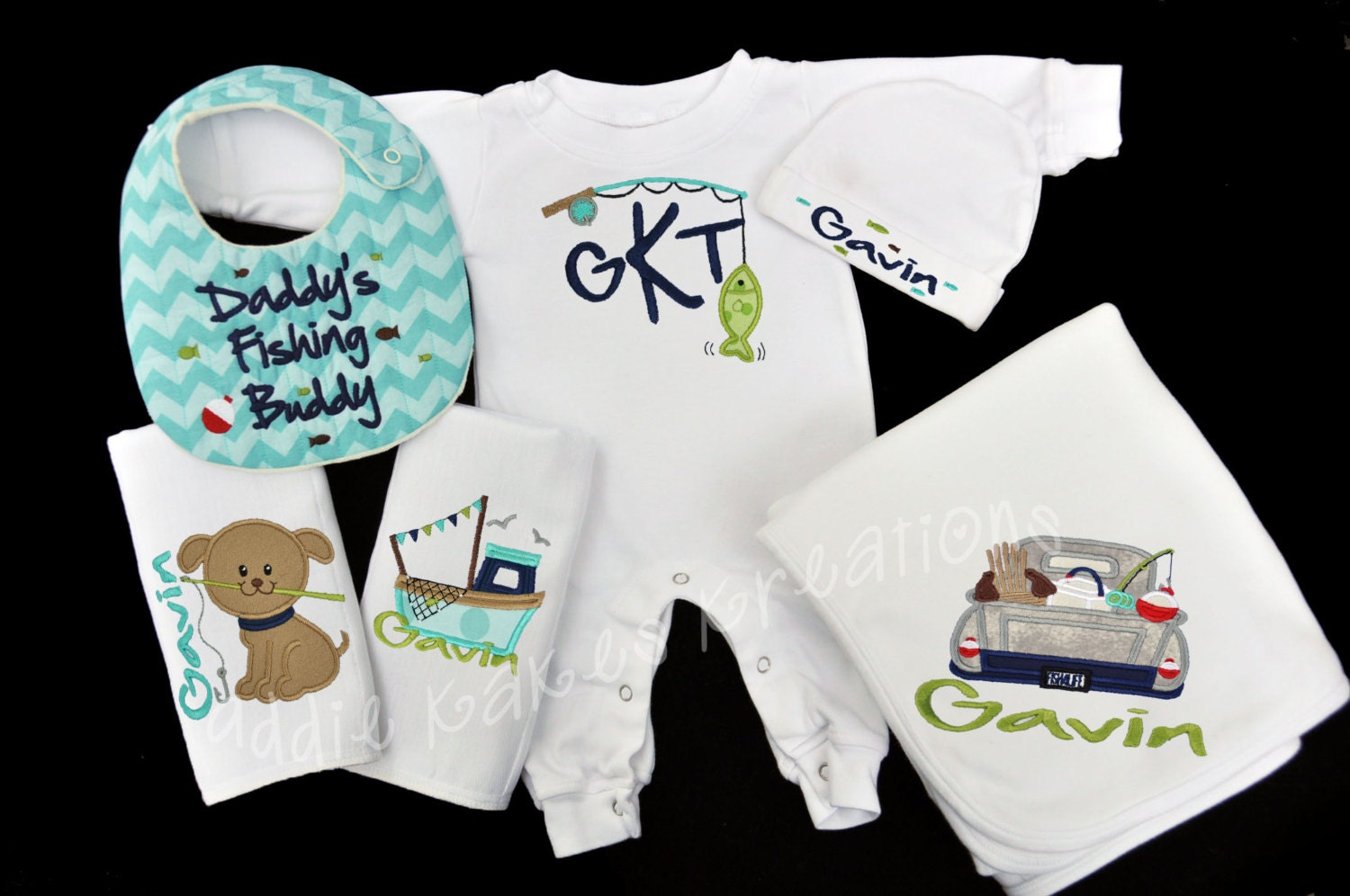 Fishing Baby Set Fishing Baby Clothes Personalized Baby
