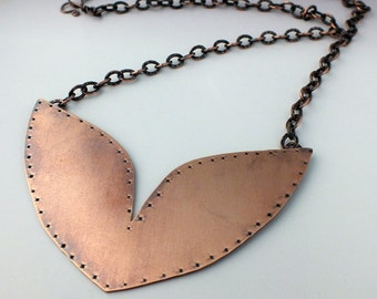 Copper Wings Necklace