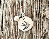 Dove Necklace, Dove of Peace Necklace, Peace Necklace, Hope Jewelry, Birthday Gifts, Sympathy Gifts, Adoption Gifts, Adoption, Bereavement